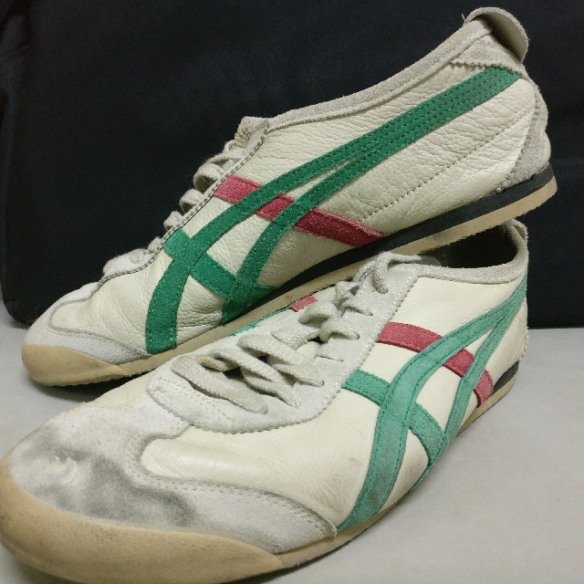 d0d22343fd4cc1 Onitsuka Tiger Mexico 66 (Beige/Green/Red) (Size US9.5), Men's Fashion,  Footwear on Carousell