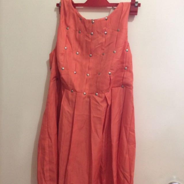 Peach Orange dress
