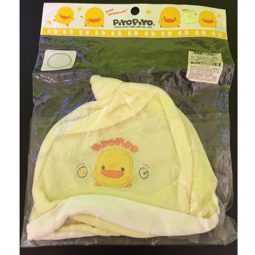 正版PIYO PIYO嬰兒毛巾質感帽  新品(120含運)