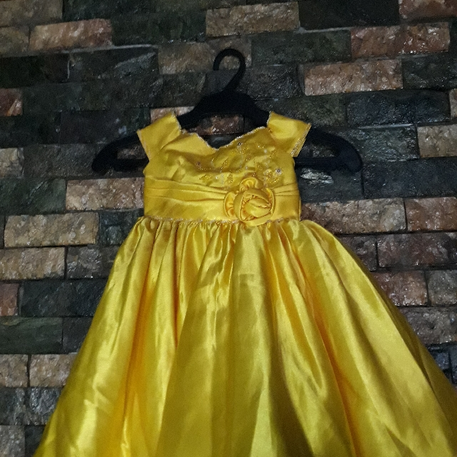 pre loved belle gown, Babies & Kids, Girl\'s Apparel on Carousell