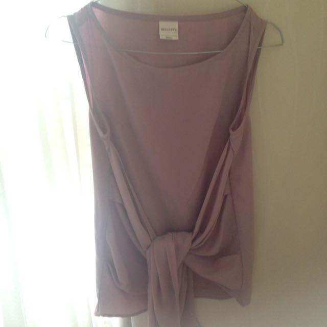 Purple Tied Top