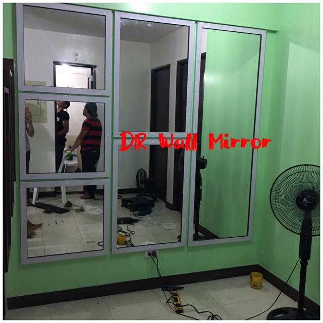 Quality Wall Mirror With Aluminum Frame, Home & Furniture on Carousell