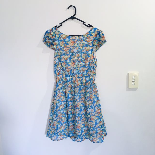Quirky circus floral dress