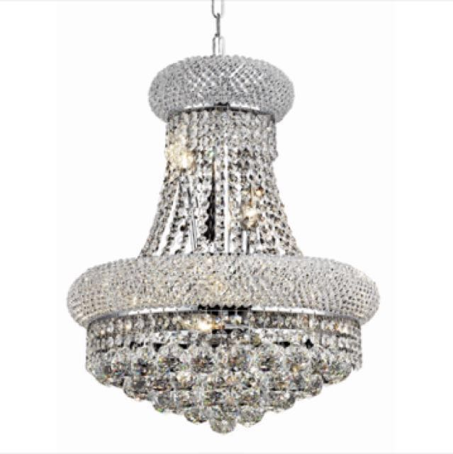 Royal cut crystal Chandelier (chrome)