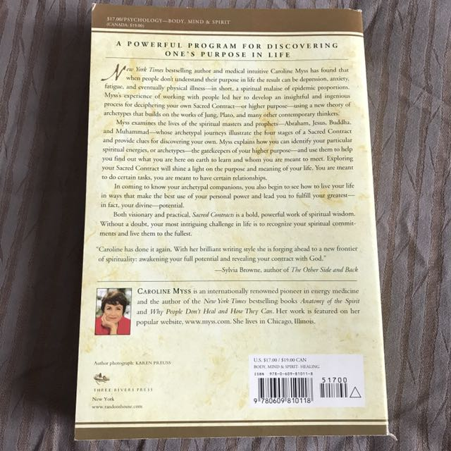 Sacred Contracts By Caroline Myss Books Stationery Fiction On