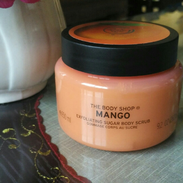 Sale! The Body Shop Manggo Exfoliating Sugar Body Scrub