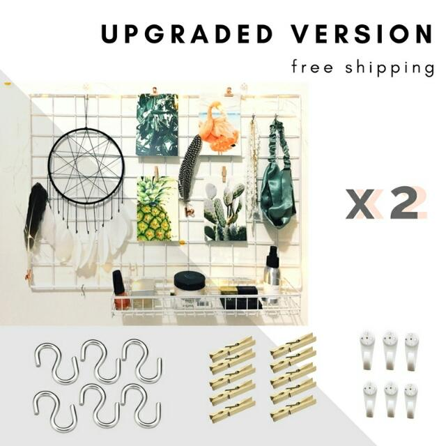 Set Of 2 Free Shipping Upgraded Version Wire Wall Grid Mesh