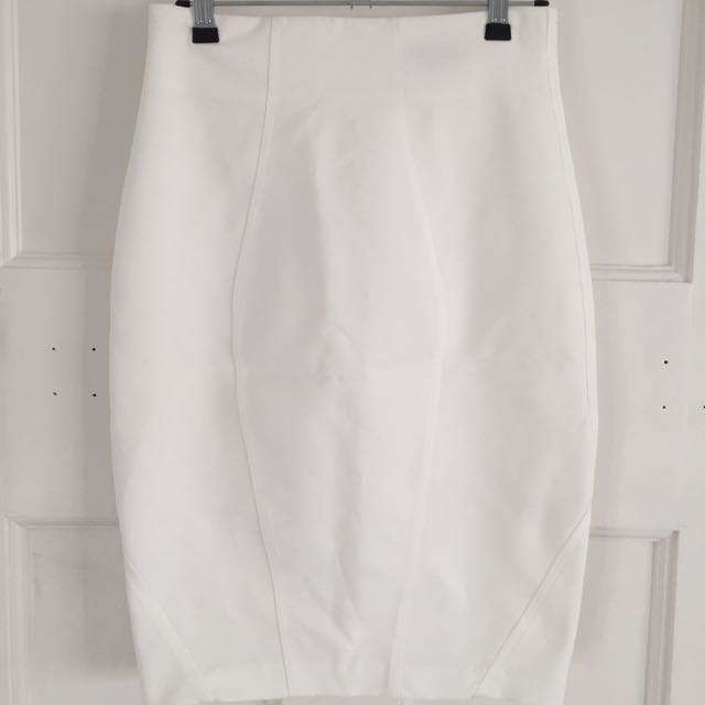 Sheike White Fitted Skirt