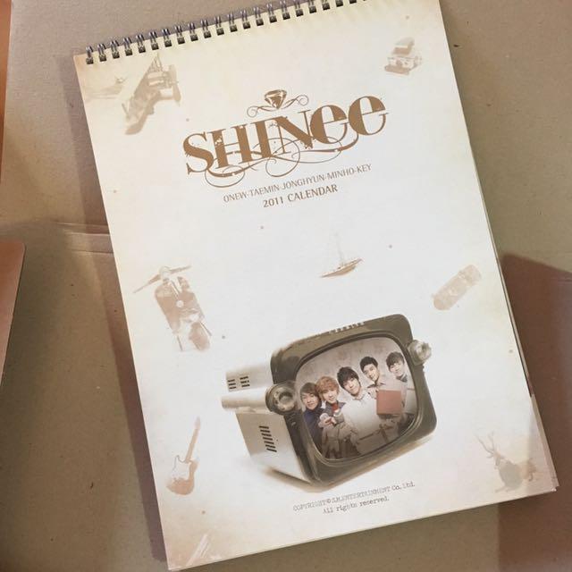 SHINee 2011 Calendar 桌曆