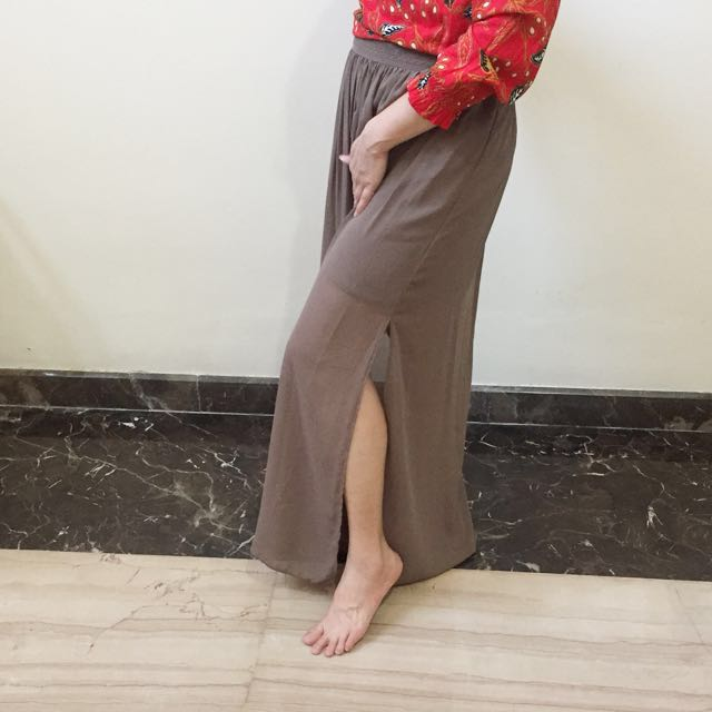 Split skirt stradivarius