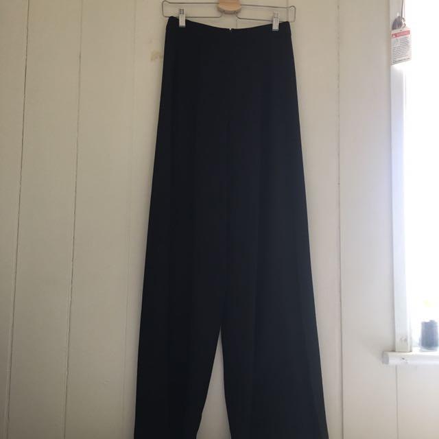 Sportsgirl black flare wide leg pants