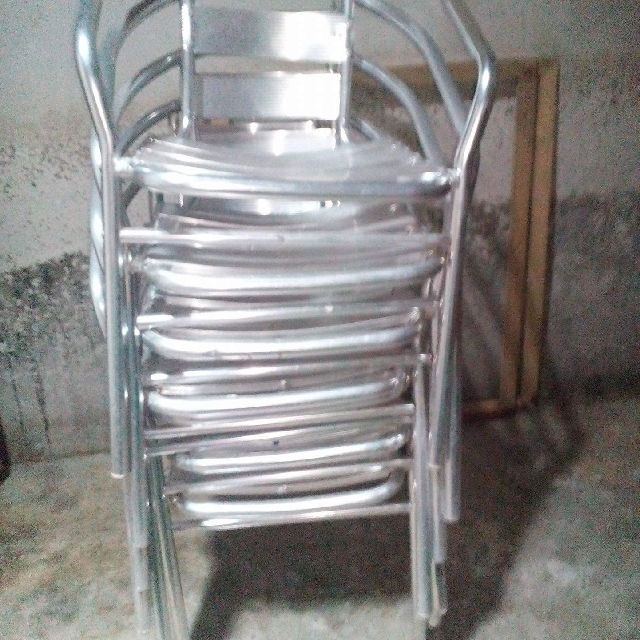 stainless chair 550 each