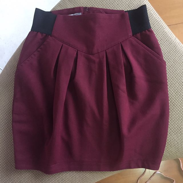 Stradivarius Red Skirt