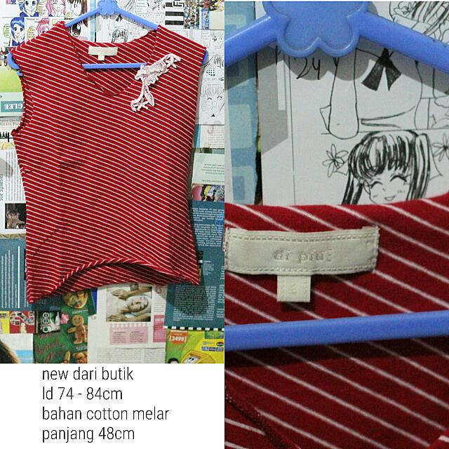 Striped Top Red Imported