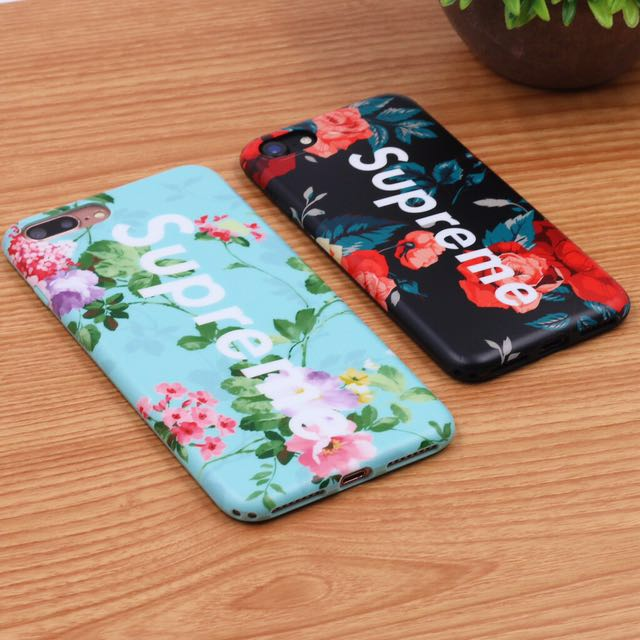 buy online e2bae 0a3f9 Supreme floral case (iPhone 6 plus/6s plus) on Carousell