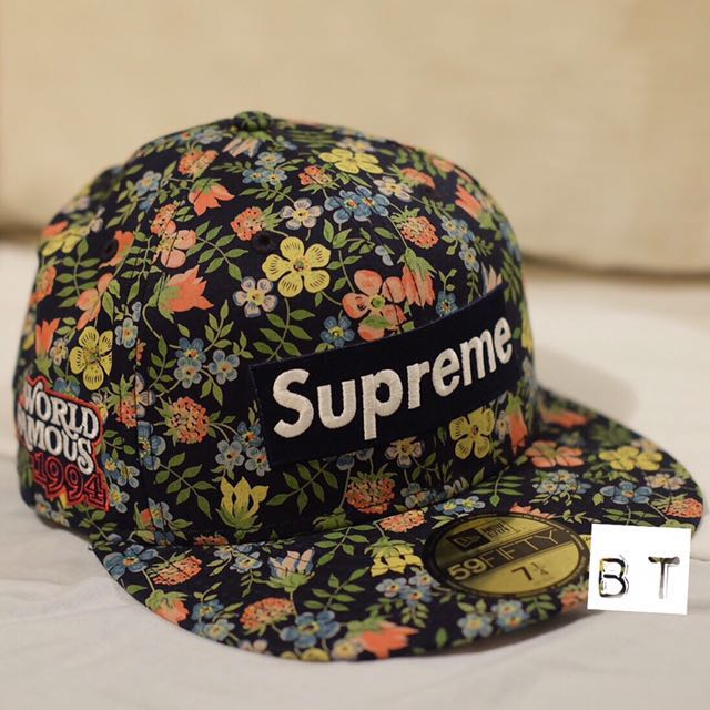 05c474132ac Supreme x Liberty Floral Box Logo New Era Cap SS13