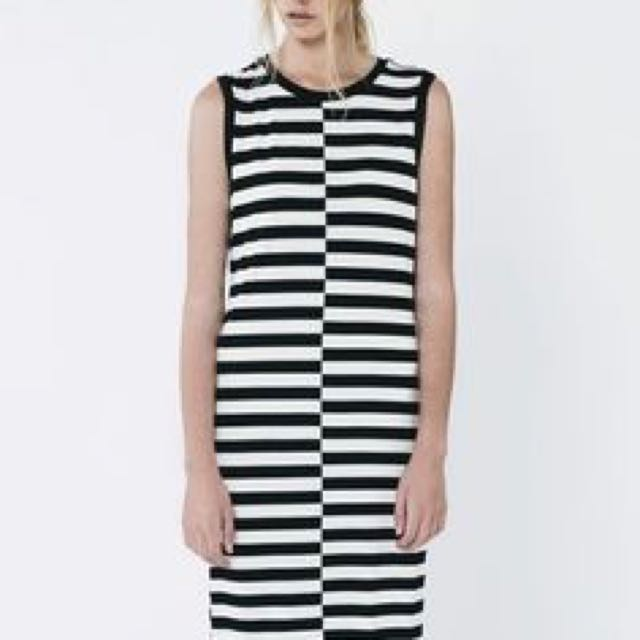 THE FIFTH black and white striped tank dress
