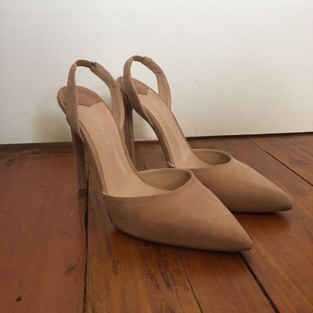 Tony Bianco Nude Stilettos size 8