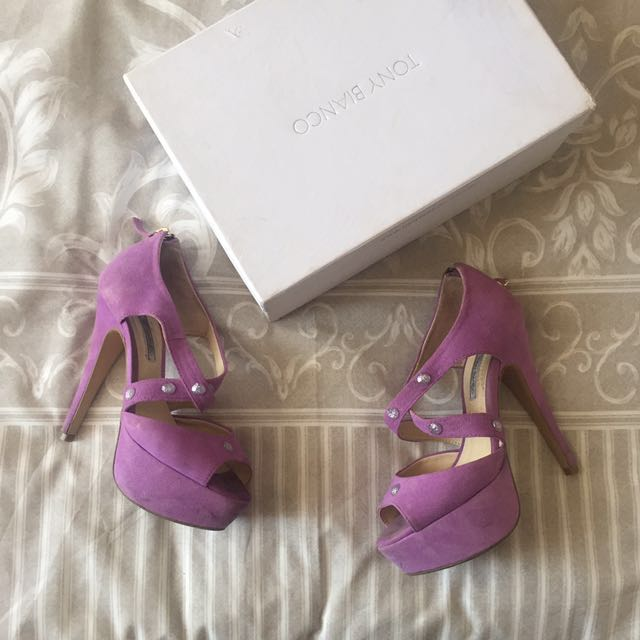 Tony Bianco Purple Heels