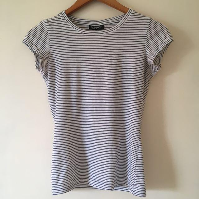 Topshop Striped Shirt Size 8
