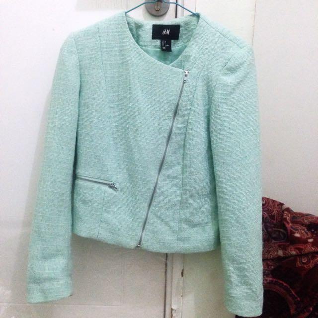 Turquoise Blazer H&M