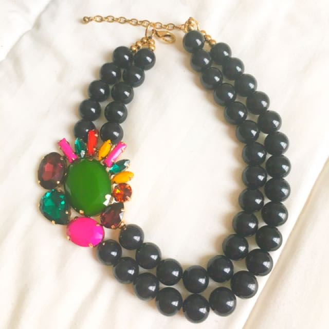 Vintage Black pearl with geometry pendant