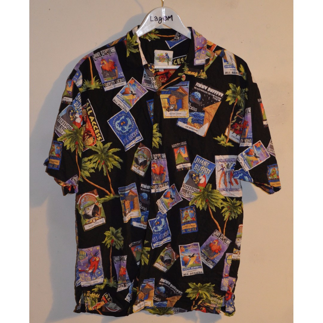 VTG Jimmy Buffit Hawiian Shirt Size L