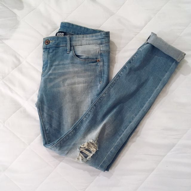 Wave zone ripped Denim jeans