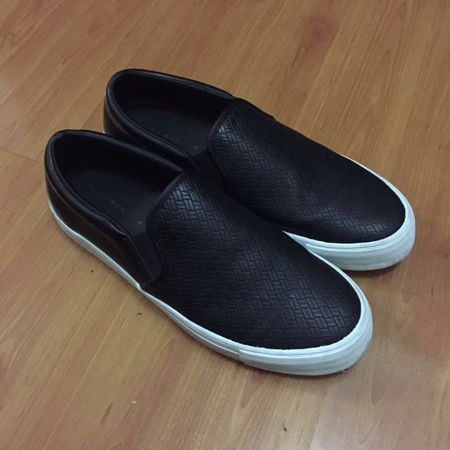 Zara Man Sneakers Black Woven