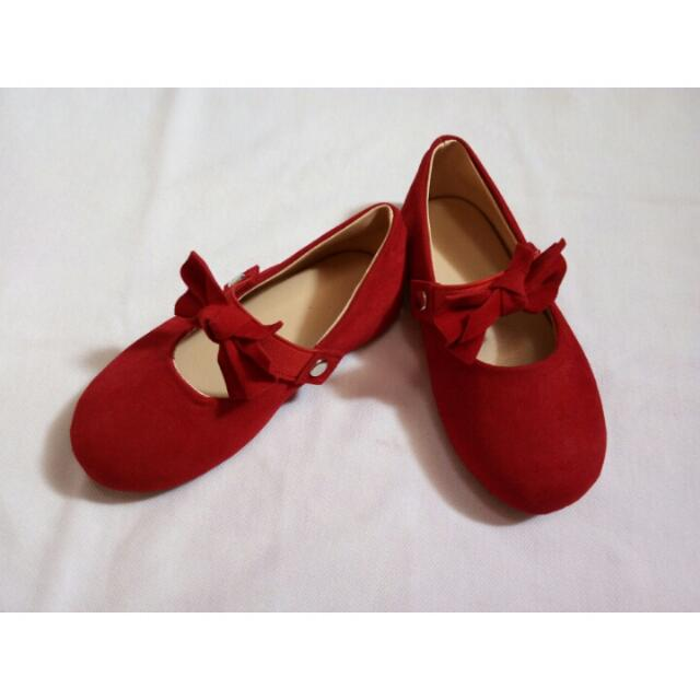 Zuri Baby Couture Red Doll Shoes