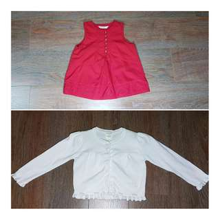 2 sets Girl's Top (2-3yo)