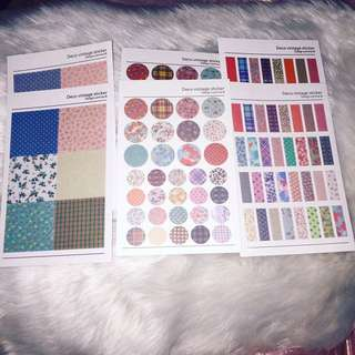 deco vintage stickers 6 sheets
