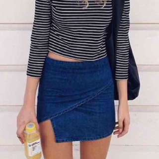 Brandy Melville Crossover Jean Skirt