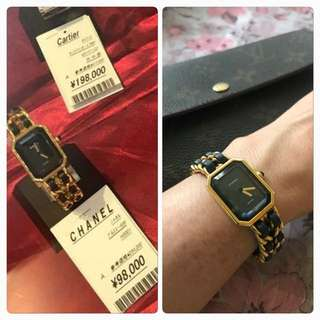 Auth chanel premier watch s-m size