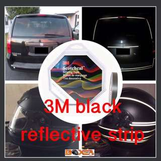 3M Black Reflective Strip Sticker
