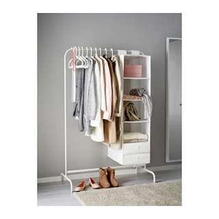 Ikea rak pakaian putih