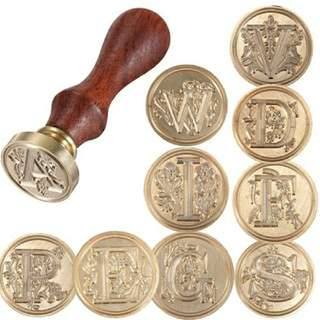 1 Pc Classic (choose 1 of 26 Letter A-Z) Alphabet Seal Wax Stamp (Fixed Price & Free Delivery)
