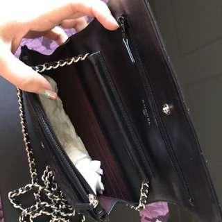 Chanel WOC 小羊皮黑色銀鏈