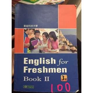 二手 勤益用書 English for Freshmen#教科書出清