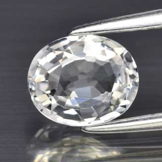1.09ct Oval Natural White Topaz - Certified