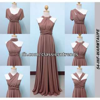 Infinity Dress in Warm Taupe