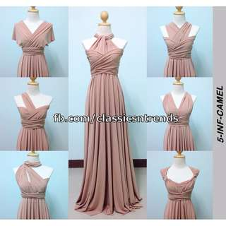 FREE SHIPPING! Bridesmaid Infinity Dress in Camel
