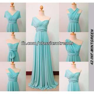 FREE SHIPPING! Bridesmaid Infinity Dress in Mint Green