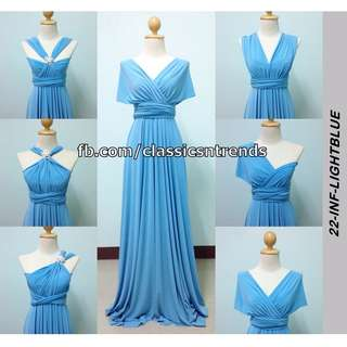 FREE SHIPPING! Bridesmaid Infinity Dress in Light Blue