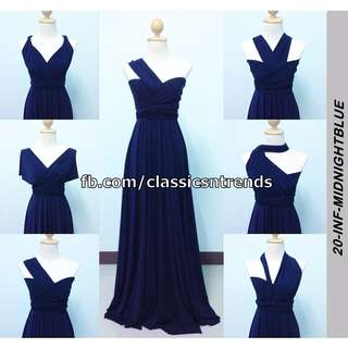 FREE SHIPPING! Bridesmaid Infinity Dress in Midnight Blue