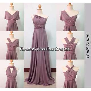 Infinity Dress in Taupe