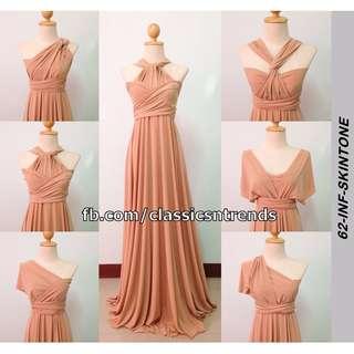 Infinity Dress in Skintone