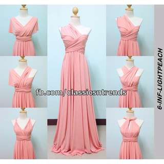 FREE SHIPPING! Bridesmaid Infinity Dress in Light Peach