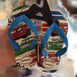 Disney Cars Havaianas Slippers Flip Flops Kids US 10