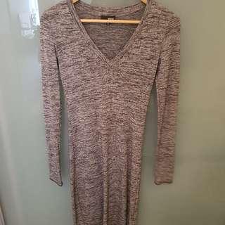 Aritzia Wilfred Free Dress Grey
